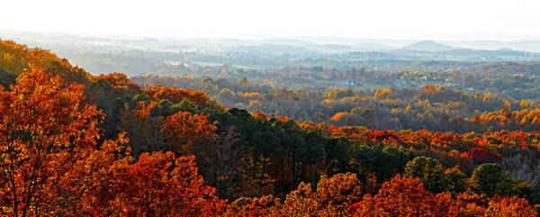Photograph - Shenandoah Valley Fall Panorama by Lynn Bauer
