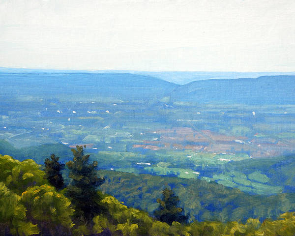 Wall Art - Painting - Shenandoah Valley Overlook by Armand Cabrera