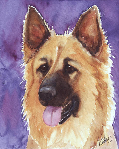 Painting - Shepherd by Greg and Linda Halom