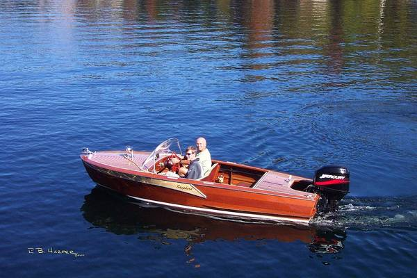 Photograph - Shepherd Runabout On Lake Sunapee by R B Harper