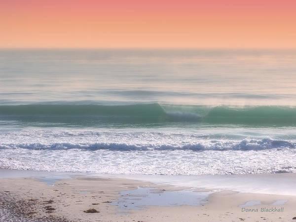 Carmel By The Sea Photograph - Sherbert Sunrise by Donna Blackhall