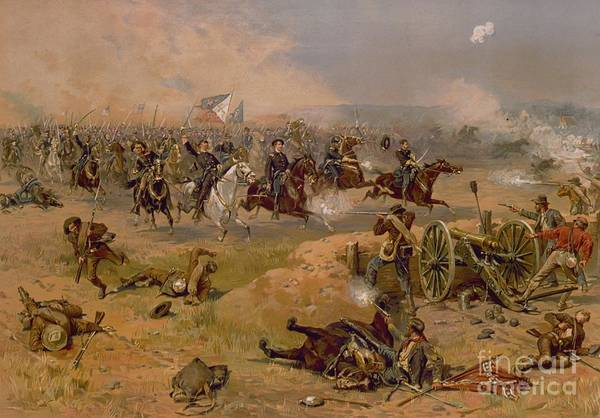 Wounded Soldier Painting - Sheridan's Final Charge At Winchester by American School