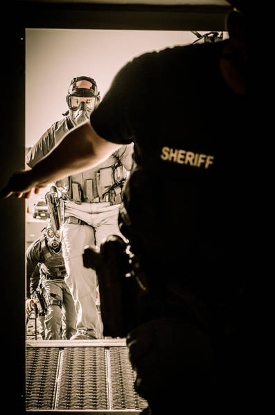 Photograph - Sheriff Entry Team by David Morefield