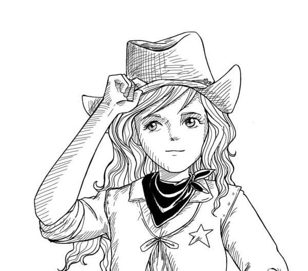 Drawing - Sheriff Tammy Sketch by Reynold Jay