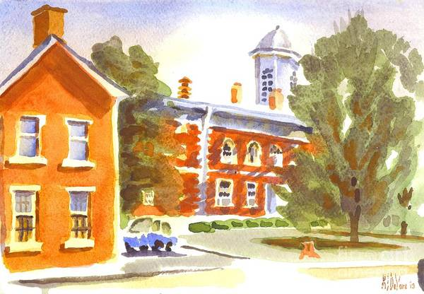 Painting - Sheriffs Residence With Courthouse by Kip DeVore