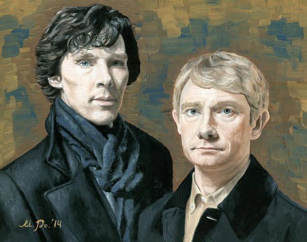 Bbc Painting - Sherlock And Watson by Mariana Po