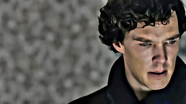 Painting - Sherlock by Florian Rodarte
