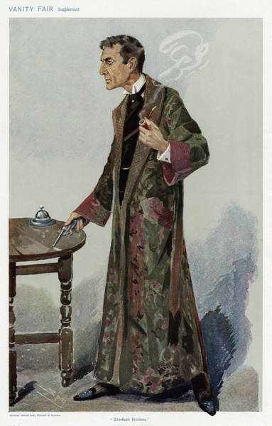 Wall Art - Drawing - Sherlock Holmes As Played by Mary Evans Picture Library