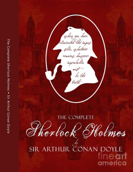 Suspense Digital Art - Sherlock Holmes Book Cover Poster Art 1 by Nishanth Gopinathan