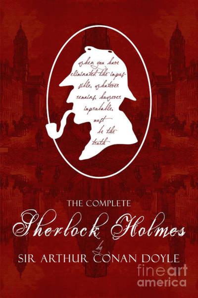 Suspense Digital Art - Sherlock Holmes Book Cover Poster Art 2 by Nishanth Gopinathan