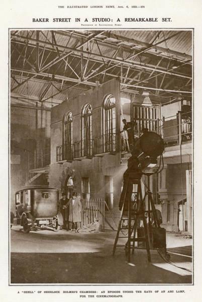 Conan Photograph - 'sherlock Holmes' Is Filmed By  Stoll by  Illustrated London News Ltd/Mar