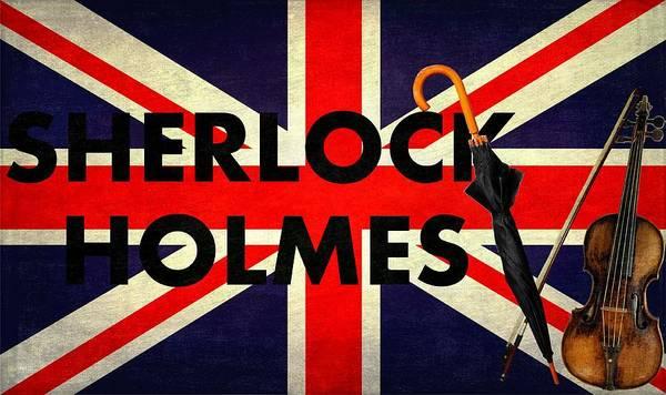 Conan Photograph - Sherlock Holmes Union Jack by Suzanne Powers