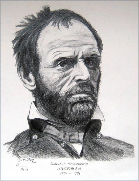 William Tecumseh Sherman Painting - Sherman by Ray Johnstone