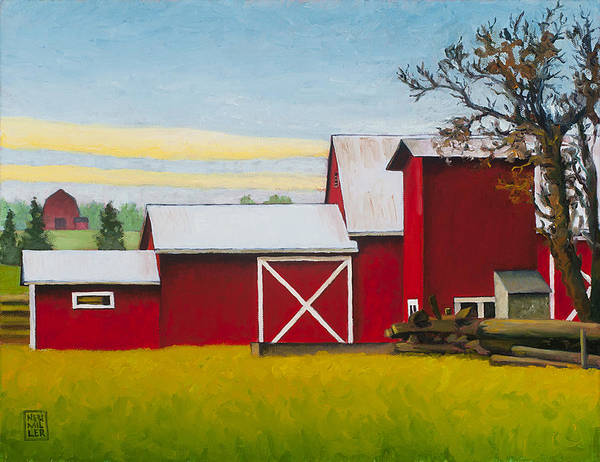 Wall Art - Painting - Sherman Squash Farm by Stacey Neumiller