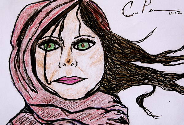 Popart Drawing - She's Like The Wind by Chrissy  Pena