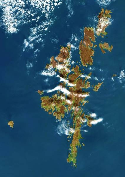 Landsat 7 Wall Art - Photograph - Shetland Islands by Planetobserver/science Photo Library