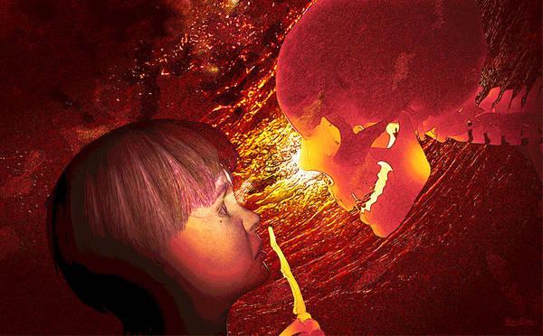 Digital Art - Shhh by Matt Lindley