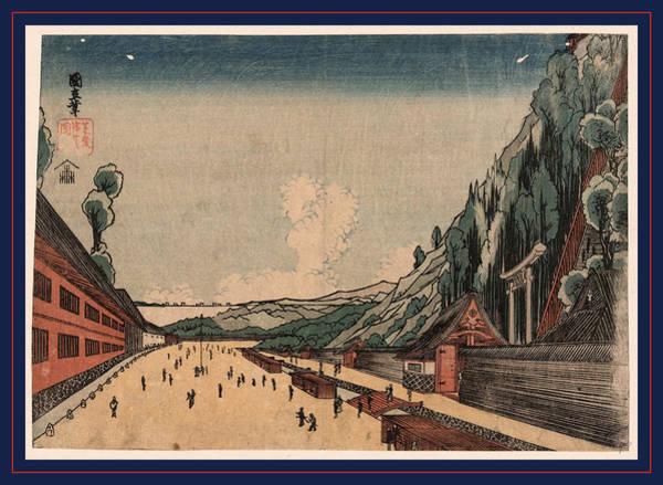 1854 Drawing - Shiba Atagoyama No Zu by Utagawa, Kuninao (1795-1854), Japanese
