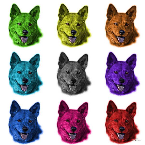 Mixed Media - Shiba Inu Dog Art - 8555 - V2 - M by James Ahn