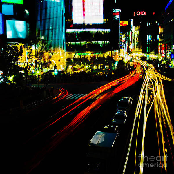 Photograph - Shibuya At Night by Julian Cook