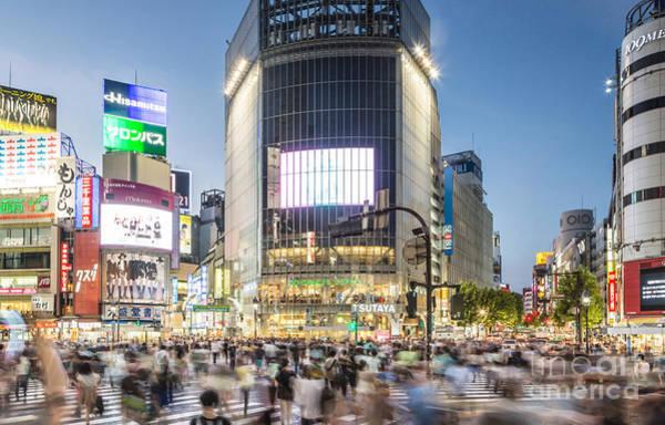 Photograph - Shibuya Crossing by Didier Marti