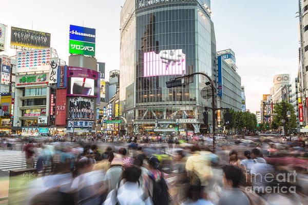 Photograph - Shibuya Madness by Didier Marti