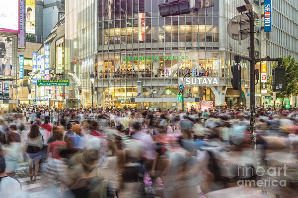 Photograph - Shibuya Madness In Tokyo by Didier Marti