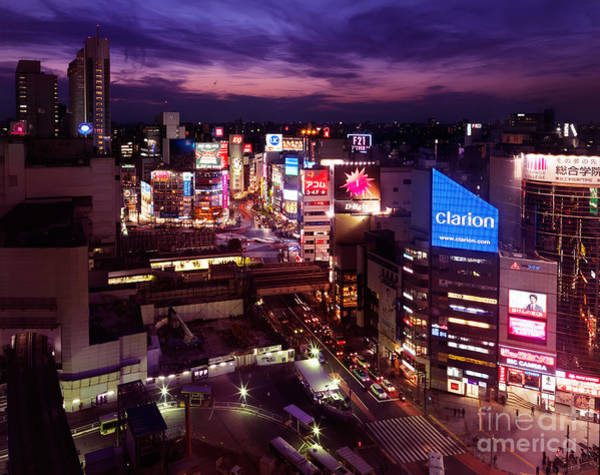 Clarion Wall Art - Photograph - Shibuya Station Aerial View Tokyo by Maxim Images Prints