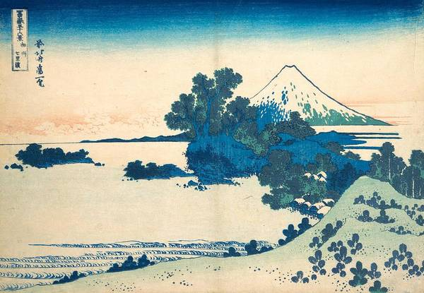 Thirty-six Views Of Mount Fuji Wall Art - Painting - Shichirigahama In Sagami Province by Katsushika Hokusai