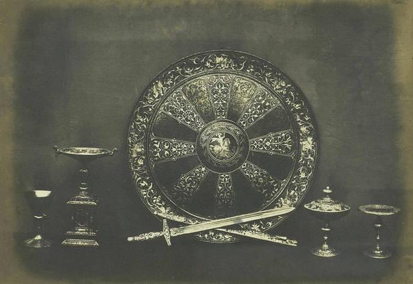 Steel Drawing - Shield In Damascene Steel. Falloise by Artokoloro