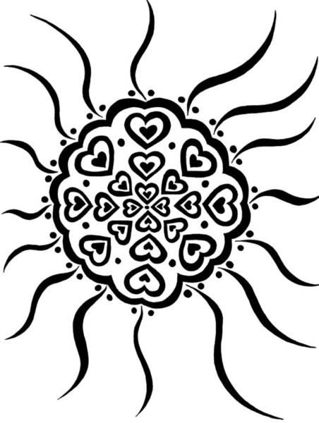 Drawing - Shield Of Hearts by Beth Akerman