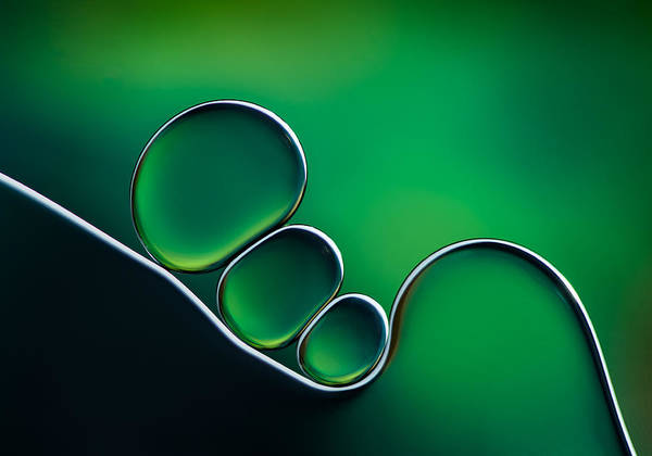 Bubbles Wall Art - Photograph - Shifting Shapes by Jacqueline Hammer