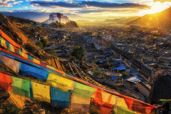 Chinese Culture Photograph - Shigatse Monastery by Ratnakorn Piyasirisorost