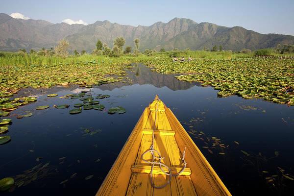 Dal Lake Photograph - Shikara In The Dal Lake, Srinagar by Travel Photographer Specialized In Asia * Sylvain Brajeul