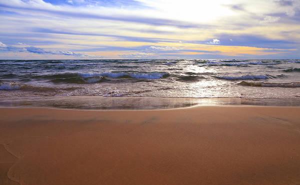 Photograph - Shimmer On Lake Michigan by Rachel Cohen