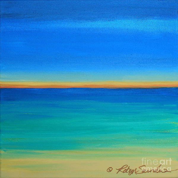 Painting - Shimmering Sea by Robyn Saunders