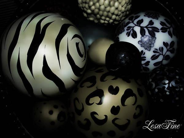 Shimmery Spheres Art Print