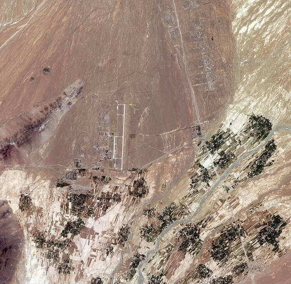 Airbase Photograph - Shindand Air Base by Geoeye/science Photo Library