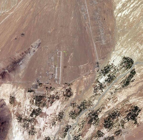 Military Air Base Photograph - Shindand Air Base by Geoeye/science Photo Library