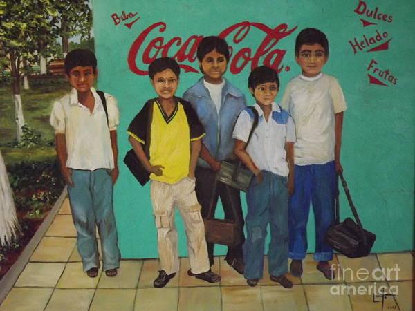 Bolivia Mixed Media - Shine Boys Of Bolivia by Lorita Montgomery