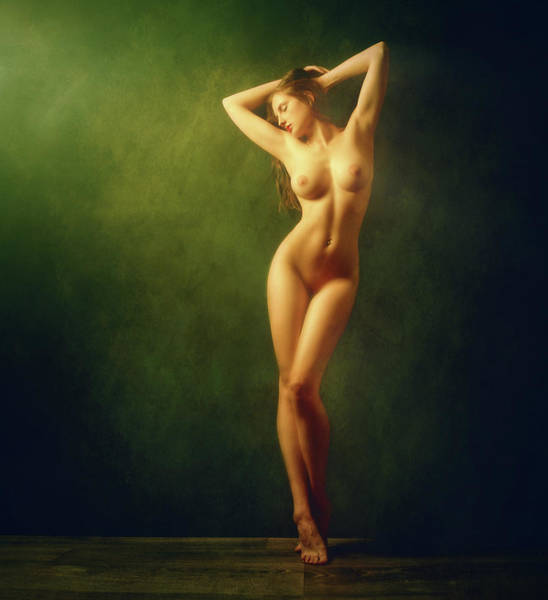 Sensuality Wall Art - Photograph - Shine Gold, Shine Green... by Zachar Rise