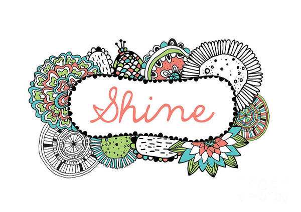 Positive Digital Art - Shine Part 2 by MGL Meiklejohn Graphics Licensing