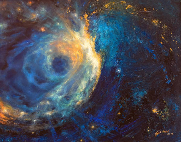 Star Cluster Painting - Shines The Nameless by Lucy West