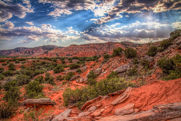 Escarpment Photograph - Shining Through by Tom Weisbrook