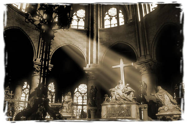Notre Dame Photograph - Shinning Through by Mike McGlothlen