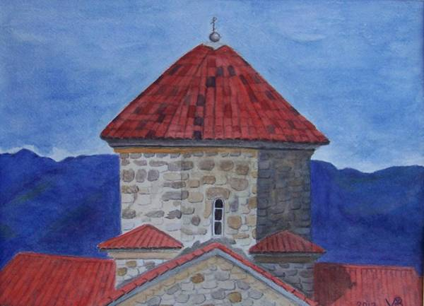 Painting - Shio Mgvime Monastery In Rep. Of Georgia by Vera  Smith