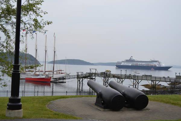 Bar Tender Photograph - Ship In Port Bar Harbor Maine by Lena Hatch