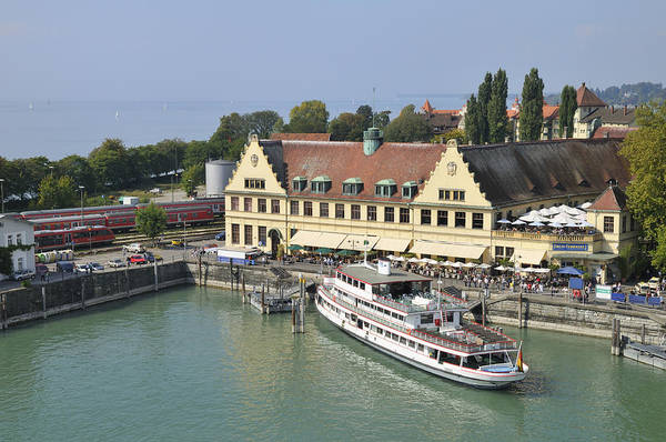 Photograph - Ship In The Lindau Harbor Lake Constance Germany by Matthias Hauser