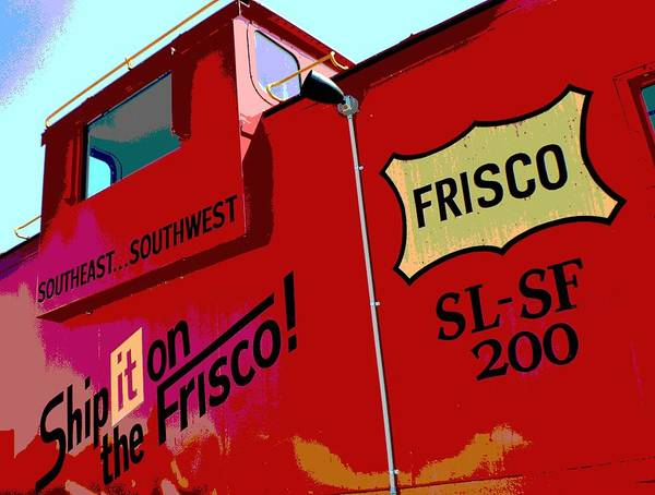 Red Caboose Photograph - Ship It On The Frisco by Deena Stoddard