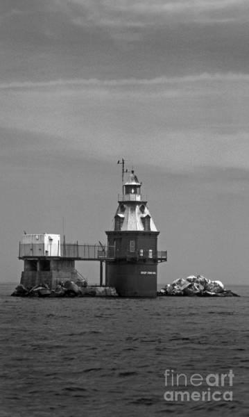 Screw Pile Wall Art - Photograph - Ship John Shoal Lighthouse by Skip Willits